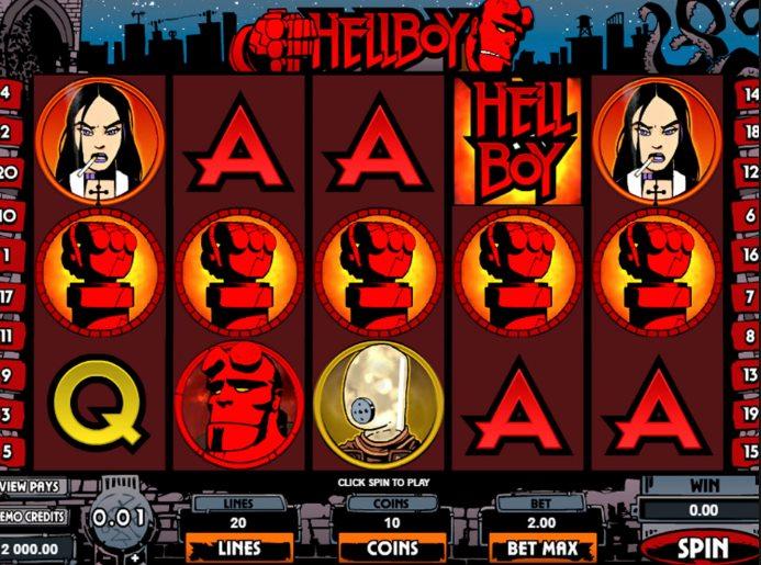Как играть в игровой автомат «Хеллбой»?